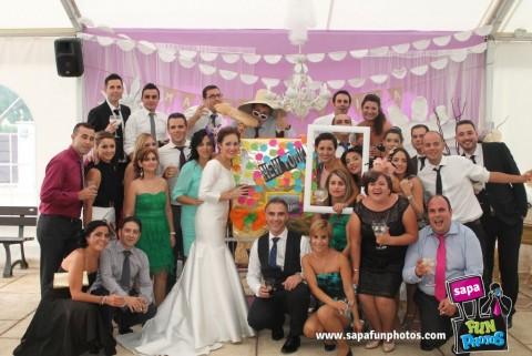 Photocall bodas Madrid Sapaflash